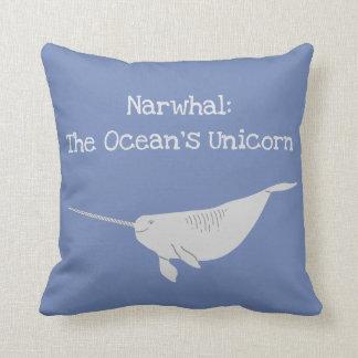Coussin Narwahl : La licorne de l'océan