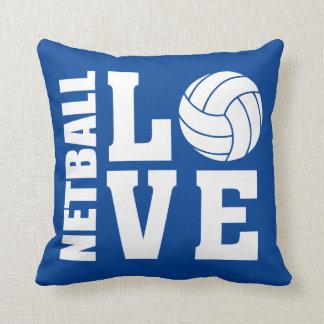 Coussin Net-ball de bleu d'amour de net-ball