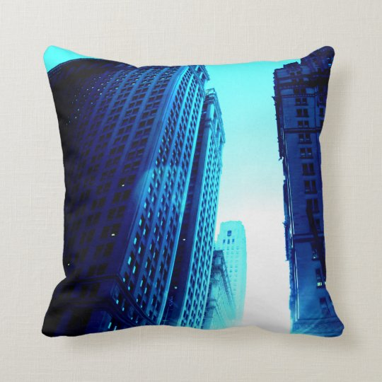 Coussin New-York Color – Blue Building