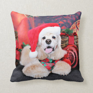 Coussin Noël - cocker - Tobey