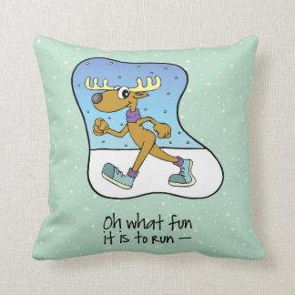 Coussin Noël courant de renne d'exercice