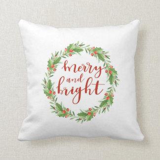 Coussin Noël guirlande-joyeux et lumineux