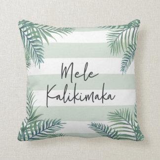 Coussin Noël hawaïen de Mele Kalikimaka  