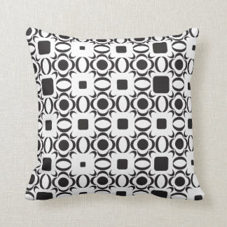 Coussin noir et blanc de motif contemporain