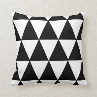 Coussin noir et blanc moderne de motif