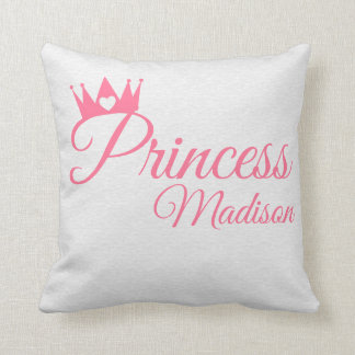 Coussin Nom rose de princesse Crown Heart Tiara