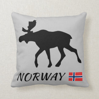 Coussin Norway Elk and drapeau