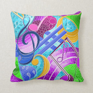 Coussin Notes musicales