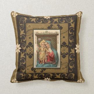 Coussin Notre Madame du mont Carmel avec le bébé Jésus