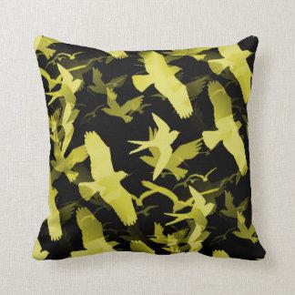 Coussin Oiseaux jaunes