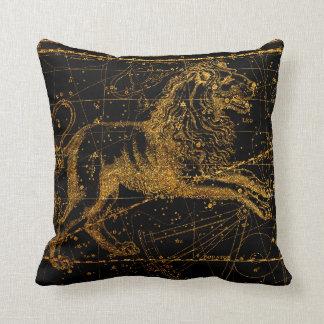 Coussin Or astrologique céleste de lion de LION de signe