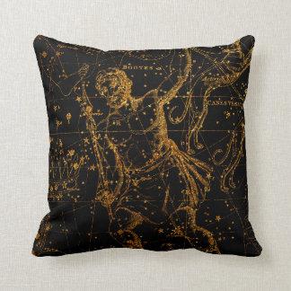 Coussin Or astrologique céleste Hercule de carte d'étoile