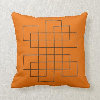 Coussin Orange de labyrinthe