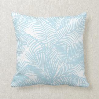 Coussin Palmier tropical moderne simple de bleus layette