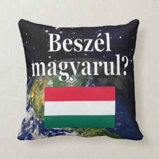 Coussin Parlez-vous hongrois ? dans le Hongrois. Drapeau