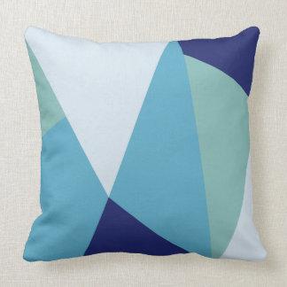 Coussin Pastel géométrique élégant de bleu marine et de