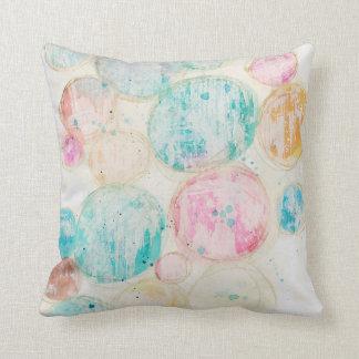 Coussin Pastel minable de cercles colorés artistiques