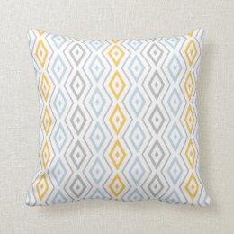 bleu et jaune coussins carr s bleu et jaune housses de coussins. Black Bedroom Furniture Sets. Home Design Ideas