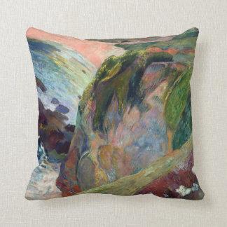 Coussin Paul Gauguin le joueur de flageolet sur la falaise