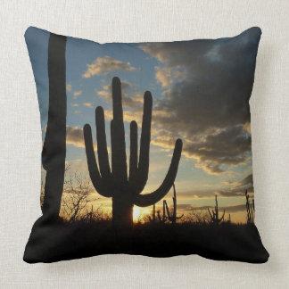 Coussin Paysage de désert du coucher du soleil II Arizona