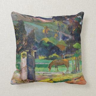Coussin Paysage de Paul Gauguin Tahitian