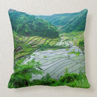 Coussin Paysage de terrasse de riz, Philippines