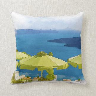 Coussin Peinture de Santorini Grèce