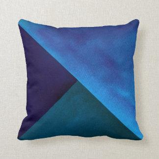 Coussin Peinture turquoise bleue de bloc d'aquarelle