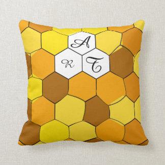 Coussin personnalisé par nid d'abeilles abstrait