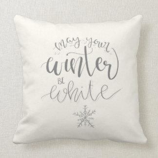 Coussin Peut votre hiver être l'oreiller blanc