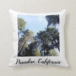 Coussin Photo de pins de la Californie de paradis
