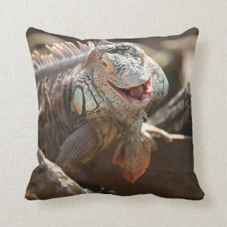 Coussin Photo riante d'iguane
