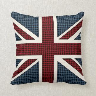 Coussin Pied-de-poule de drapeau d'Union Jack