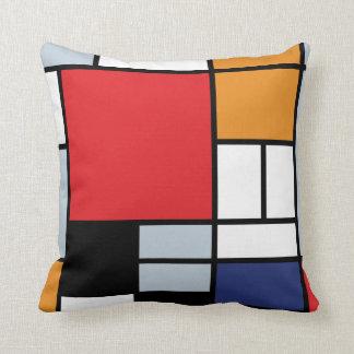 Coussin Piet Mondrian - composition avec le grand avion