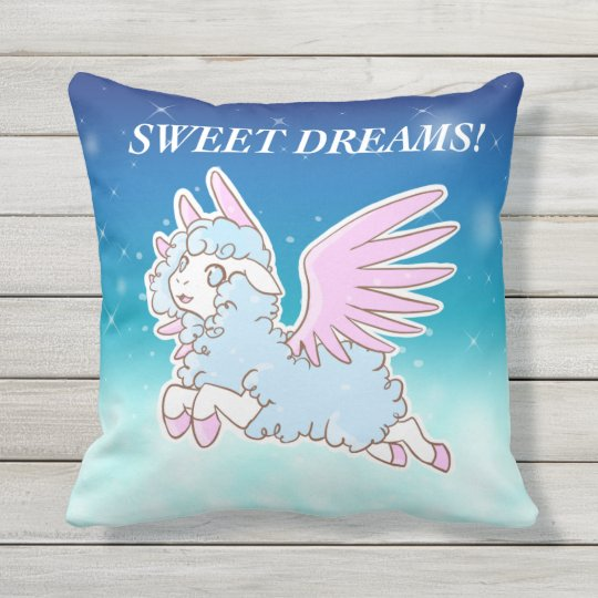 Coussin Pillow Kawaii fantasy dream winged sheep