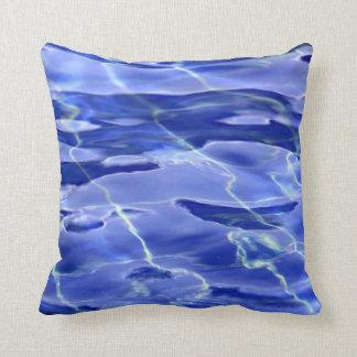 Coussin Piscine bleue