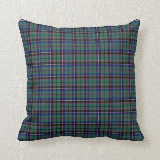 Coussin Plaid vert et bleu d'écossais de Stevenson de clan