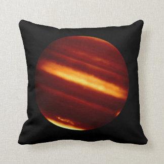 Coussin Planète Jupiter dans la lumière infrarouge