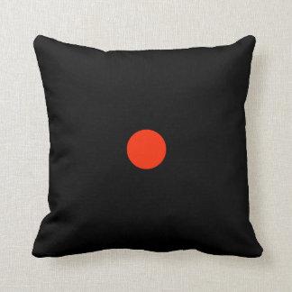 Coussin Point rouge avec le backgroud noir - dessin