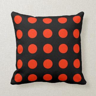 Coussin Points rouges avec le backgroud noir - dessin