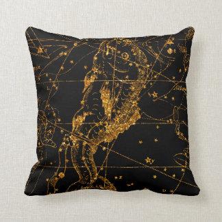 Coussin Poissons astrologiques célestes de Poissons d'or