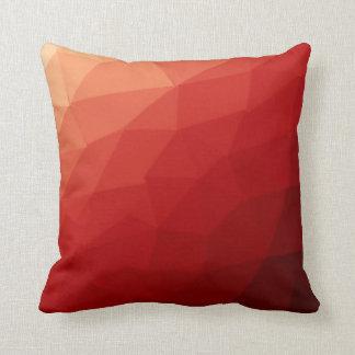 Coussin Poly carreau rouge de motif d'Abtract