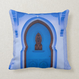 Coussin Porte marocaine bleue