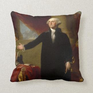 Coussin Portrait vintage de George Washington peignant 2