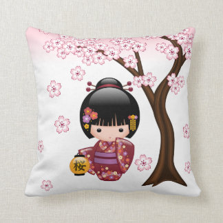 Coussin Poupée de Sakura Kokeshi - fille de geisha