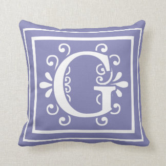 Coussin Pourpre de bigorneau de monogramme de la lettre G