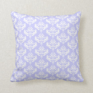 Coussin pourpre et blanc lilas de damassé