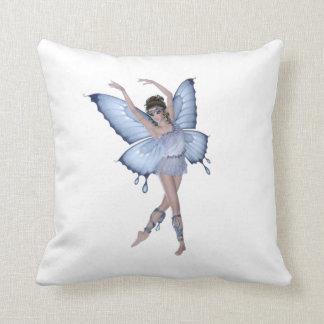 Coussin Princesse bleue de fée de papillon