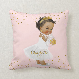 Coussin Princesse ethnique Ballerina Nursery Name d'or