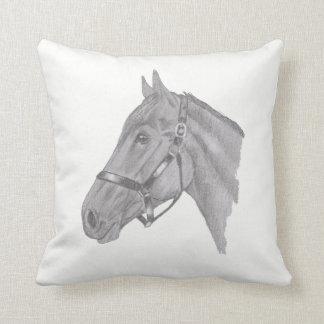 Coussin Profil de tête de cheval